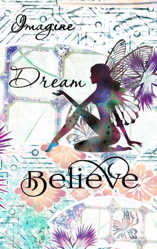 Обои на телефон верить, цитата, цветы, сказочные, силуэт, прекрасные, представить, мечты, мечта, любовь, love, i believe
