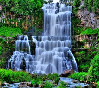 Обои на телефон водопад, супер, взгляд, super waterfall, good