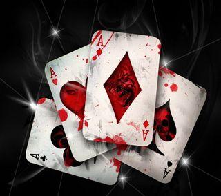 Обои на телефон туз, карты, темные, рука, покер, мертвый, кровь, игра, aces
