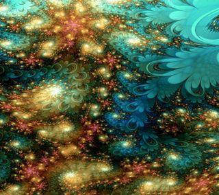 Обои на телефон фрактал, цветочные, звезды, галактика, nexus, galaxy s3, 2012