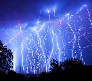 Обои на телефон шторм, молния, electricity