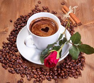 Обои на телефон кофе, утро, сердце, розы, любовь, morning love, love