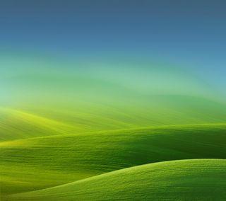 Обои на телефон трава, небо, синие, зеленые, арт, art
