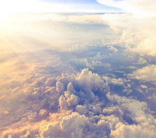 Обои на телефон солнце, синие, природа, облака, небо, above clouds