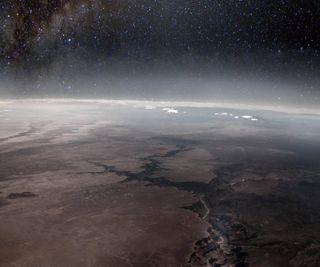 Обои на телефон темные, мистика, космос, каньон, земля, звезды, великий, land