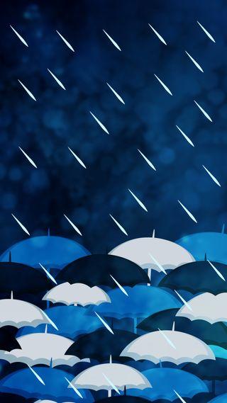 Обои на телефон снаружи, погода, зонтики, дождь, весна, zedgeaprshow