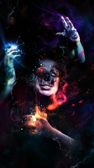 Обои на телефон руки, череп, ужасы, темные, розы, красочные, абстрактные, man, dressings