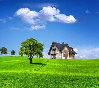 Обои на телефон приятные, природа, дом, nice house
