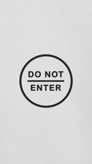 Обои на телефон домашний экран, экран блокировки, дизайн, do_not_enter_white