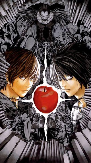 Обои на телефон смерть, свет, рюк, кира, аниме, light yagami, 1080x1920