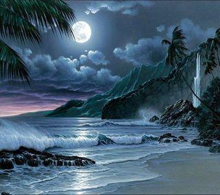 Обои на телефон луна, прекрасные, ночь, hd