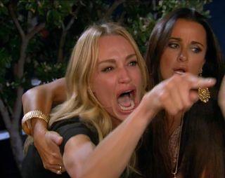 Обои на телефон мем, кошки, забавные, женщина, yelling