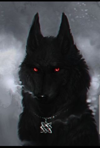 Обои на телефон сумерки, черные, ночь, луна, красые, дым, волк, арт, red eyed wolf, belle night, art