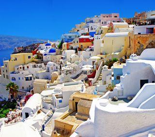 Обои на телефон удивительные, прекрасные, отпуск, красочные, греция, santorini, hd, greece santorini 4k