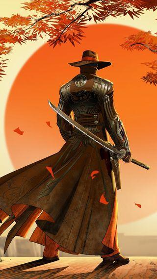 Обои на телефон самурай, ковбой