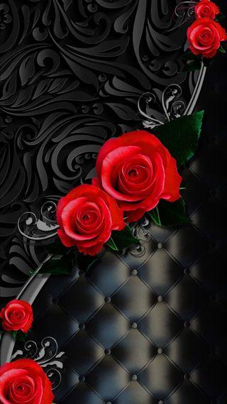 Обои на телефон кожа, шаблон, черные, розы, любовь, дизайн, love, hd