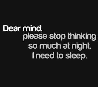 Обои на телефон dear mind, новый, ночь, цитата, поговорка, сон, стоп, разум, мышление, пожалуйста