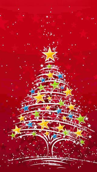 Обои на телефон рождество, красные, зеленые, желтые, arbol