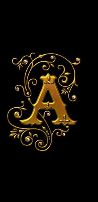 Обои на телефон royal, черные, золотые, буквы