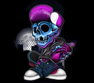 Обои на телефон скелет, череп, темные, стиль, капюшон