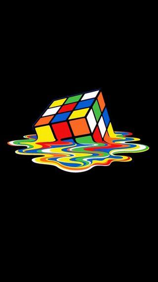Обои на телефон куб, яркие, melt, cube melting
