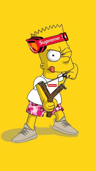Обои на телефон желтые, симпсоны, игры, барт, аниме, travieso, supreme, bartolome