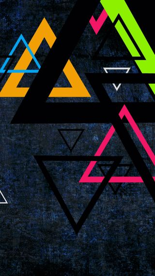 Обои на телефон треугольники, синие, красочные, красота, s8, s7
