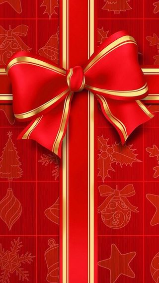 Обои на телефон подарок, рождество