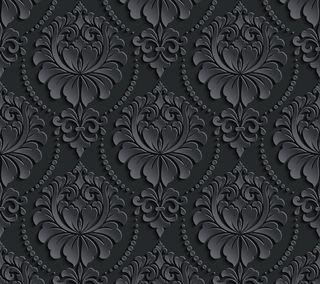 Обои на телефон цветочные, шаблон, черные, цветы, абстрактные