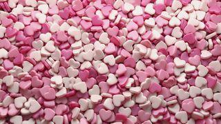 Обои на телефон сердце, розовые, белые, heart candies