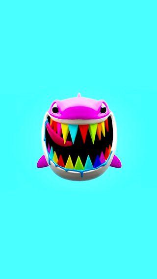 Обои на телефон цветные, рэпер, рэп, радуга, акула, tekashi 69