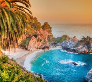 Обои на телефон берег, природа, пляж, пейзаж, пальмы, остров, море, лето, волны