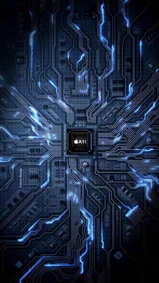 Обои на телефон электронный, электроника, технология, технологии, ретро, призрак, микросхема, man, ghost, chips, a11 chip, 80е