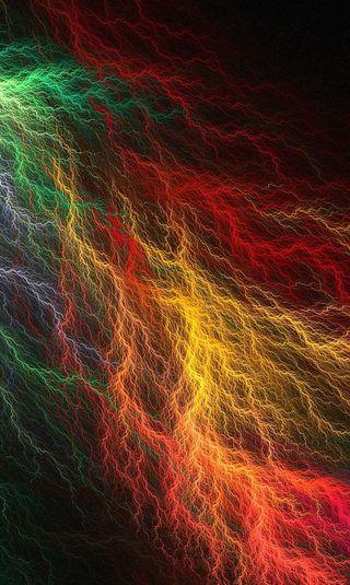 Обои на телефон шторм, цветные, свет