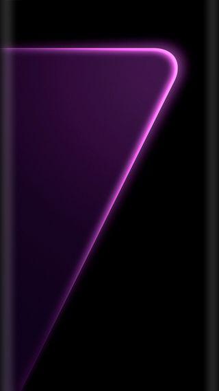 Обои на телефон фиолетовые, стиль, красочные, дизайн, грани, галактика, s7, galaxy s7 edge, edge style