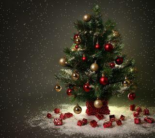 Обои на телефон счастливое, рождество, дерево, christmas treee