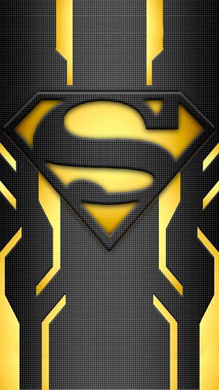 Обои на телефон развлечения, черные, фильмы, супермен, логотипы, желтые