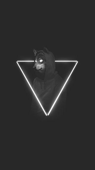 Обои на телефон худи, волк, wolf in a hoodie
