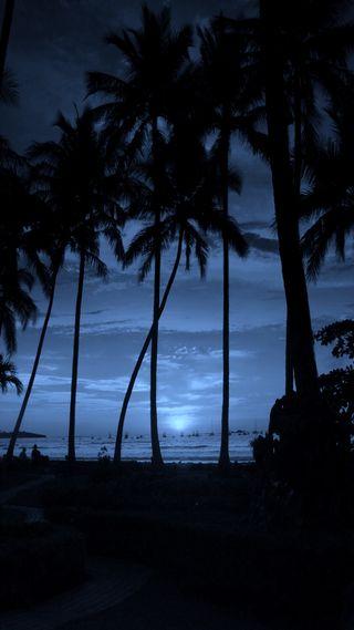 Обои на телефон естественные, ночь, небо, seaside