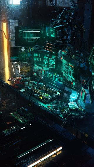Обои на телефон zash, zee, ночь, технологии, последние, компьютер, хакер, комната