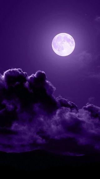 Обои на телефон фиолетовые, природа, облака, луна, космос, абстрактные