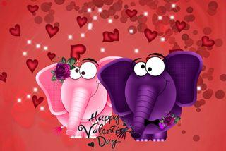 Обои на телефон happy, love, 480x320px, любовь, милые, счастливые, сердце, пара, день, слон