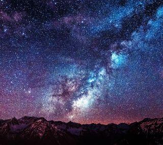 Обои на телефон звезды, гугл, горы, галактика, андроид, qhd, lg, google, galaxy, g3, android