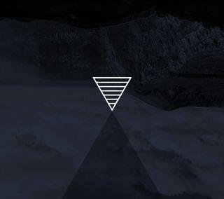 Обои на телефон полосы, черные, треугольник, оттенок, белые