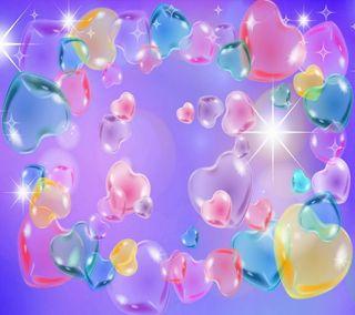 Обои на телефон пастельные, сердце, любовь, love, hearts in pastel