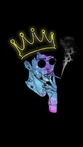 Обои на телефон корона, черные, тема, неоновые, дым, wallpapaer, tac, siyah, sigara, crown smoke
