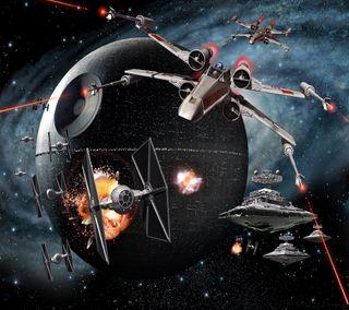 Обои на телефон art, sci-fi, space ship, star wars, арт, космос, фильмы, звезда, войны, корабли