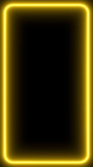 Обои на телефон экран, грани, черные, темные, свет, неоновые, желтые, дизайн