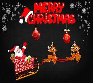 Обои на телефон пожелания, счастливое, снег, санта, рождество, приятные