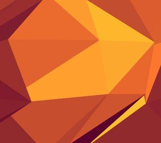 Обои на телефон многоугольник, оранжевые, polygon 17